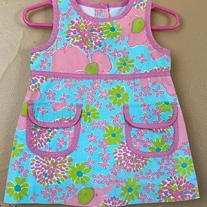 Lilly Pulitzer Dress With Flowers Sz 6-12 mo C6